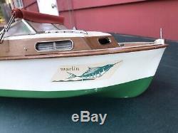 Vintage Fleetline Marlin Bois Bateau Modèle K & O Buccaneer 1950 Moteur Kit D'origine