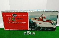 Vintage Idéal Modèles Owens Fleetship 22 Cruiser Puissant Bateaux Hors-bord 1552 Rare