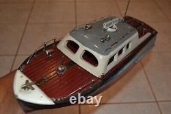 Vintage Ito Boat Modèle Harbor Patrol 16 Vintage Batterie Operated Toy Boat