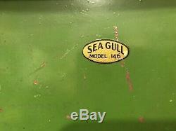 Vintage Jacrim Seaworthy Bateaux Modèle Jouet En Bois Étang Yacht À Voile Bateau Sea Gull 146