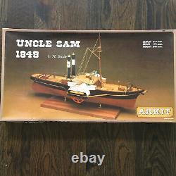 Vintage Modèle De Bateau Arkit Wood #202 Oncle Sam 1849 Nouveauté En Boîte Ouverte