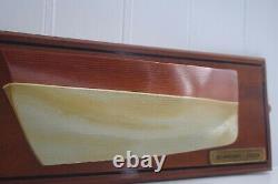 Vintage Modèle De Demi-coque En Bois Cornwall Mevagissey Lugger Bateau Nautique Maritime
