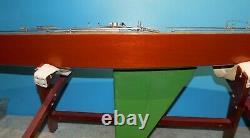 Vintage Modèle Pond Yacht Voilier 65 Pouces Long Bateau A Classe R/c
