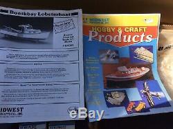 Vintage Produits Midwest R / C Boothbay Lobster Bateau De Pêche, Kit De Modèle En Bois