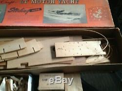 Vintage Sterling 40 Chris Craft 63' Modèle Yacht Bateau En Bois Kit Unassembled