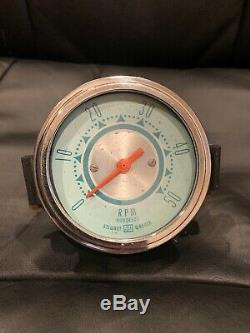 Vintage Stewart Warner Double Bleu Tach 5000 RPM Gauge Scta Hot Rod Tableau De Bord