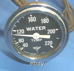 Vintage Stewart Warner Wings Courbed Glass Température De L'eau Gauge 2-1/16 Ct13