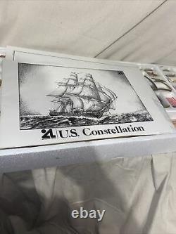 Vintage Us Constellation Model Ship American Frégate 1798, Échelle 185