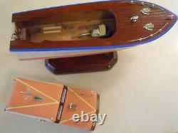 Vintage Wood Boat, Japan Model Cabin Cruiser, K&o, Ito, Custom Built, Runs, Nice