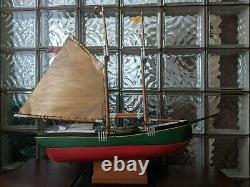 Vintage Wood Schooner Ship Weathervane Pond Yacht Modèle Bateau 32x27 Mystic Ct