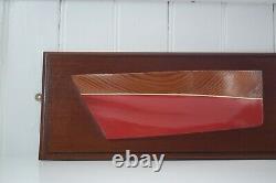 Vintage Wooden Half Hull Modèle Cornwall Fowey Lugger Maritime Nautical Boat