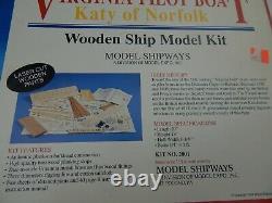 Virginia Pilot Boat Katy Of Norfolk Wooden Modèle Kit De Bateau Modèle 2001 Shipway
