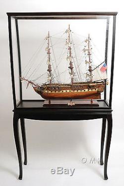 Vitrine 40 Cabinet En Bois Et Plexiglas Pour Modèles De Grand Bateau, Yacht, Bateau