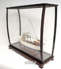 Vitrine Grand Meuble En Bois Et Plexiglas 40 Grand Bateau, Yachts, Maquettes De Bateaux