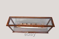 Vitrine Wood Table Top Cabinet Acrylique Glass 38.5 Modèles Navires Et Bateaux