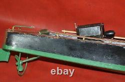 Vtg 1920s Seaworthy Boats Jouet En Bois Modèle 73 Wind Up Flying Yankee 26 Pond