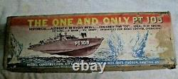 Vtg Modèle En Bois Boat Kit Dumas 1233 Us Navy Pt109 33 Jfk Original USA