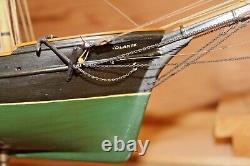 Vtg. Volante Bateau De Voile En Bois Fait Main Model 1950's Wooden Box