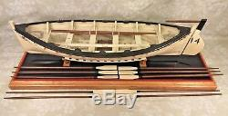 Vtg Wood, Modèle De Bateau N ° 14 Du Titanic Life Sur Avirons, Mât, Voiles, Fournitures