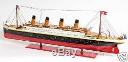 XL Rms Titanic Paquebot Modèle En Bois 56 White Star Cruise Ship Boat Line Nouveau