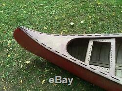 (c) Vieille Ville Otca Modèle Canoe 17' Projet De Toile En Bois Lodge Camp De Bateau De 1930